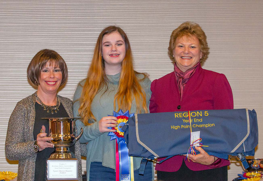 2015 Region V - Year End High Point Winner: Sport Horse Hunter Junior