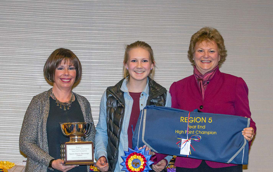 2015 Region V - Year End High Point Winner: Sport Horse Dressage Junior