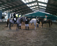 region5show riders in warmup ring